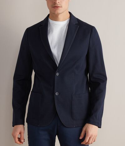 Blazer in Chambray-Optik