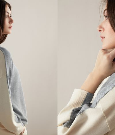 Silk and Cotton Sweatshirt