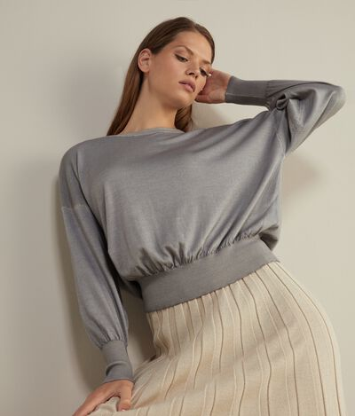 Ultralight Cashmere Jumper with Wide Sleeves