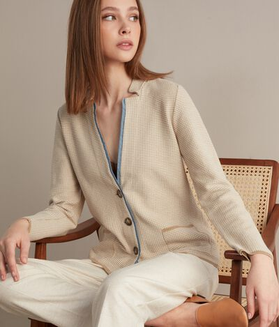 Knit Jacket with Trim
