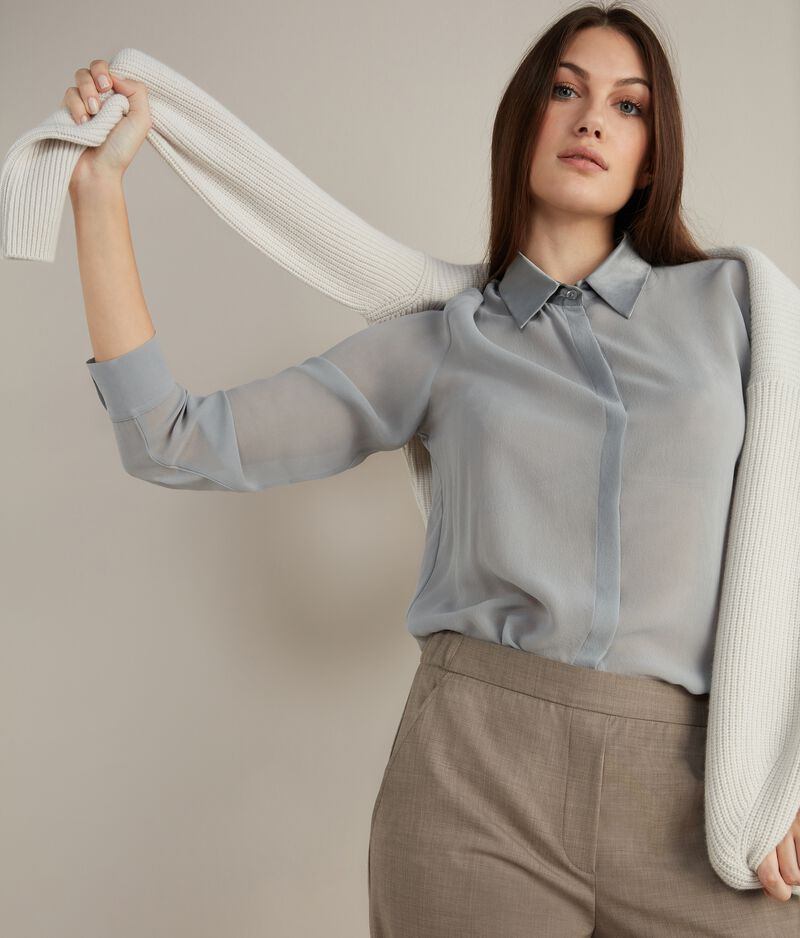 Camicia con Colletto in Seta